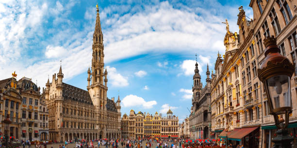 Grand Place Square in Brussels, Belgium stock photo
