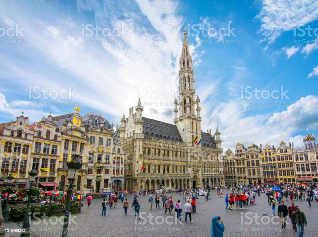 Grand Place square dans le centre de Bruxelles, Belgique - Photo