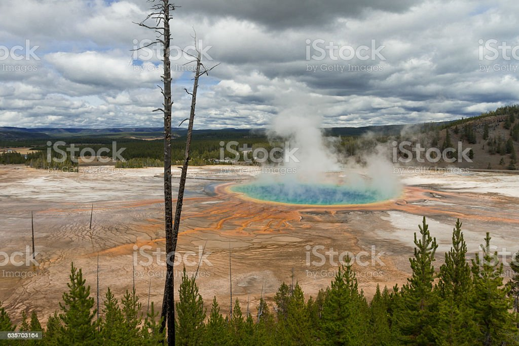 Grand Prismatic Hot Spring in Yellowstone National Park, Wyoming royalty-free stock photo