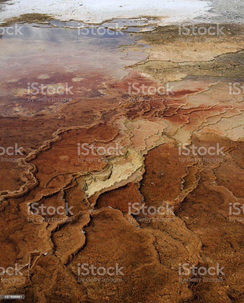 Grand prismatic hot spring royalty-free stock photo