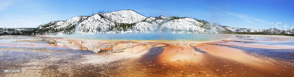 Grand Prismatic, Panorama royalty-free stock photo