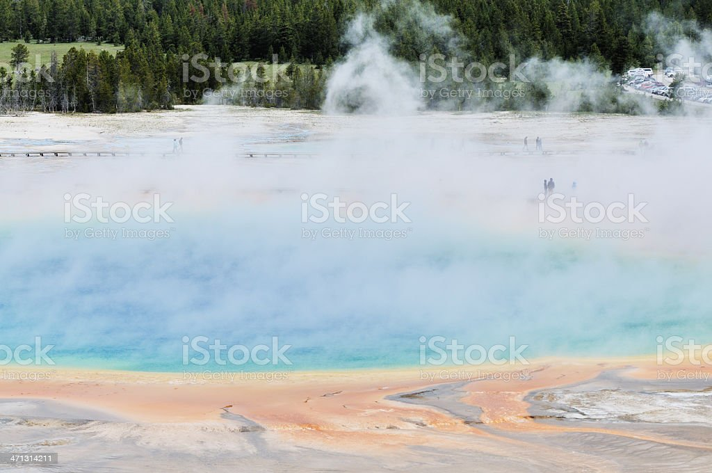 Grand Prismatic Spring in Yellowstone National Park Wyoming stock photo