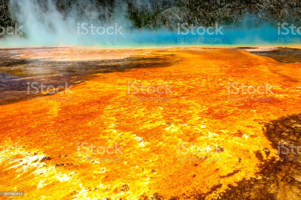 Grand Prismatic Spring in Yellowstone National Park, Wyoming-USA stock photo