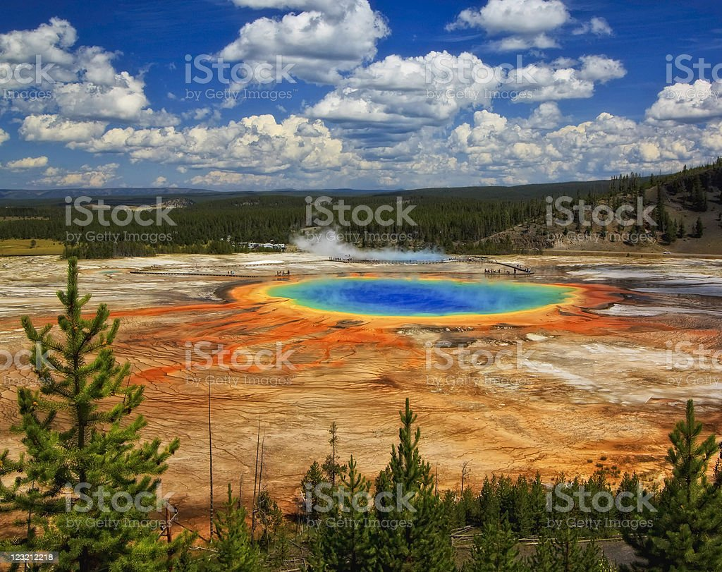 Grand Prismatic Spring stock photo