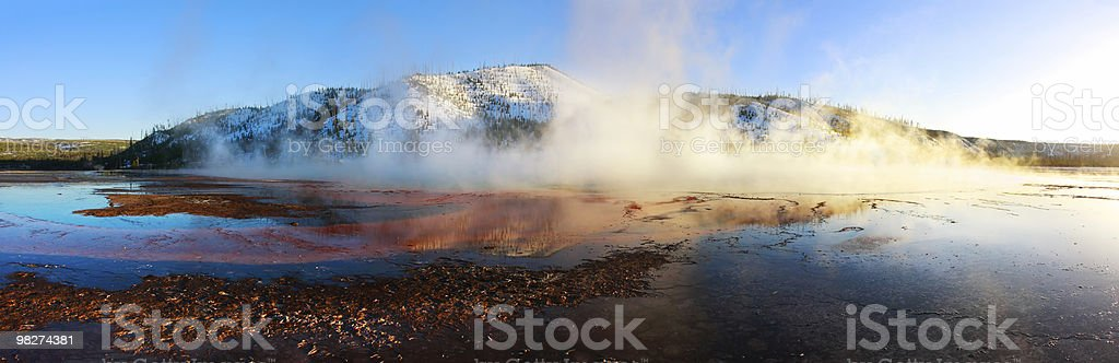 Grand Prismatic Springs, Panorama royalty-free stock photo