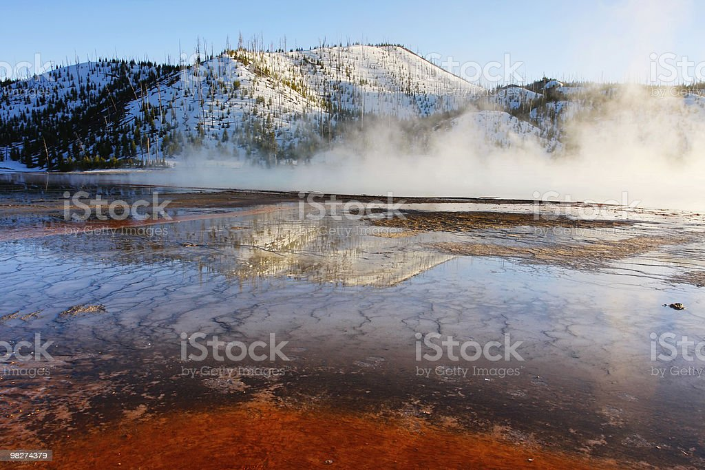 Grand Prismatic Springs royalty-free stock photo
