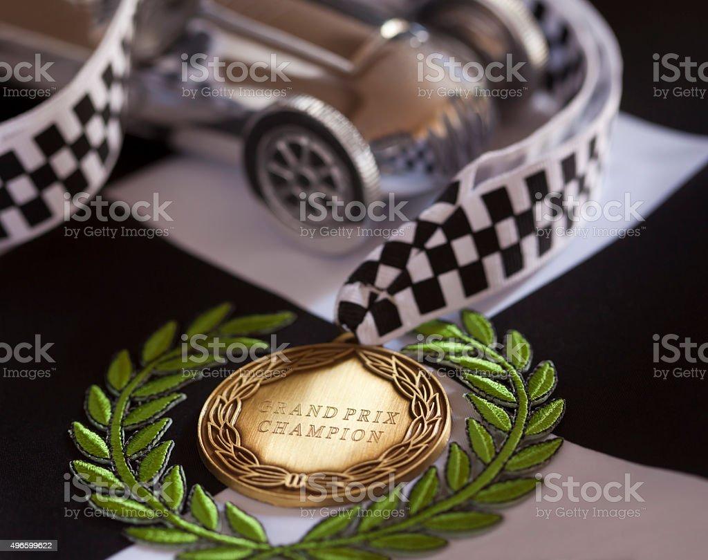 Grand Prix Champion Racing Driver stock photo