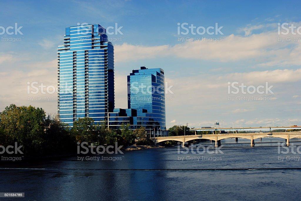 Grand Rapids Bridges stock photo