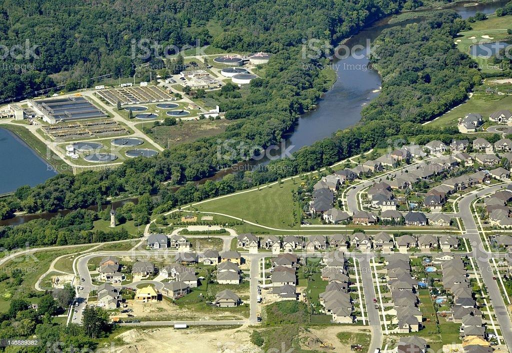 Grand River aerial stock photo