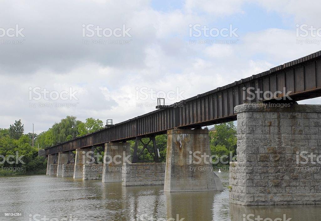 Grand River bridge royalty-free stock photo
