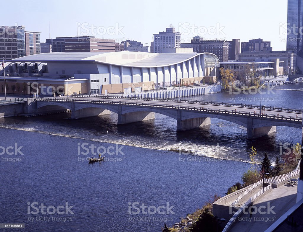 Grand River Downtown I stock photo