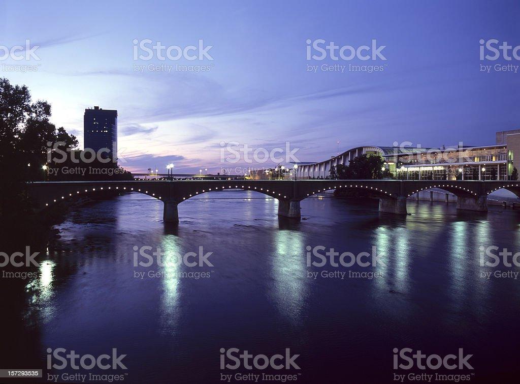 Grand River Night VI stock photo