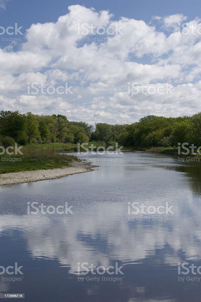 Grand River Scenic stock photo