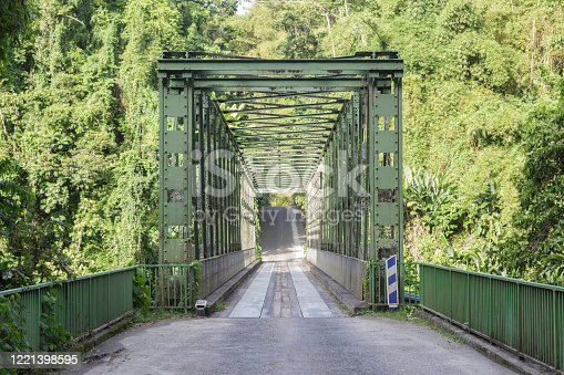 A village in the north of Martinique, this green bridge leads to Grand Riviere.