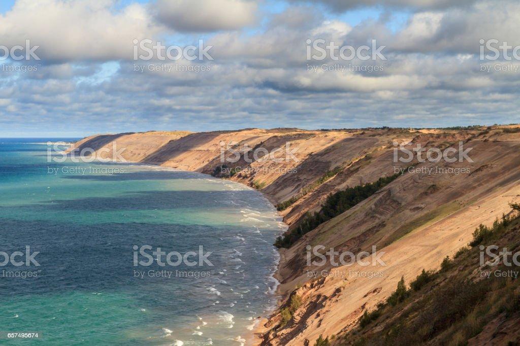 Grand Sable Dunes stock photo