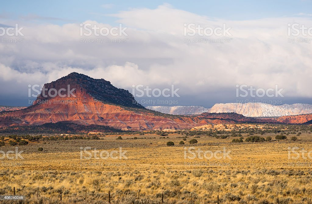 Grand Staircase-Escalante Southern Utah Rolling Clouds Canyons stock photo