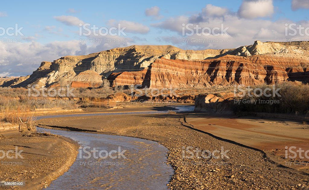 Grand Staircase-Escalante Southern Utah Rolling Clouds Pahreah R stock photo