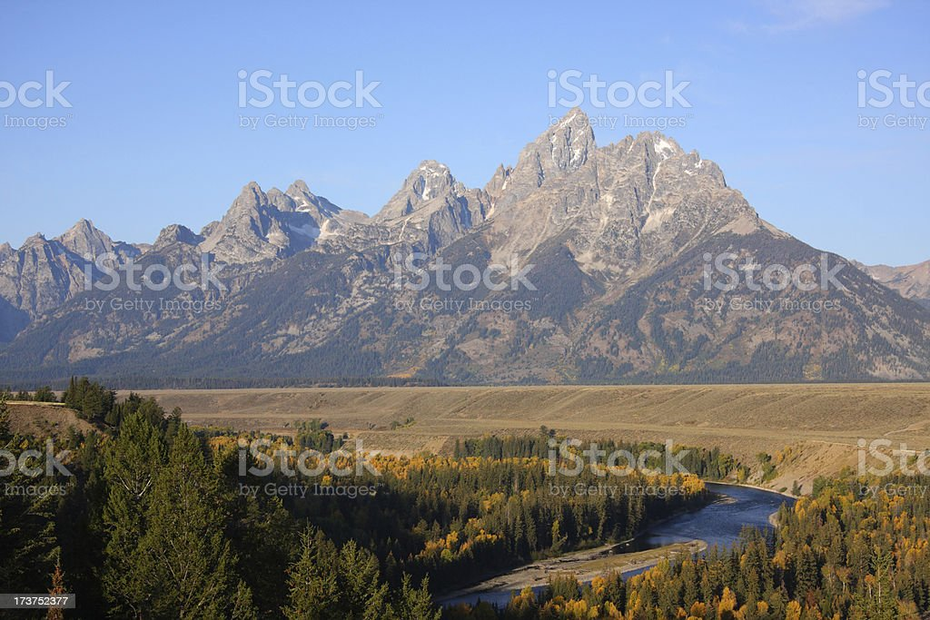 Grand Teton and Snake River royalty-free stock photo