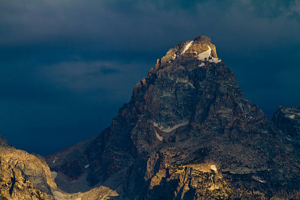 Grand Teton and Storm Clouds stock photo