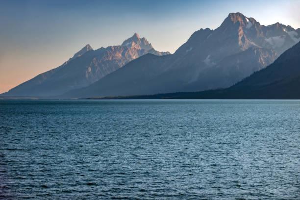 Grand Teton at Jenny lake, Grand Teton National Park, Wyoming,USA stock photo