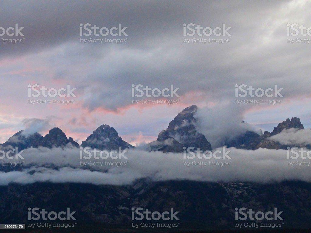 Grand Teton High Mystic stock photo