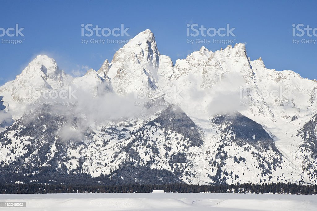 Grand Teton Mountain royalty-free stock photo