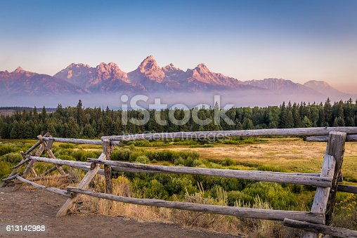 View of Grand Teton Mountains