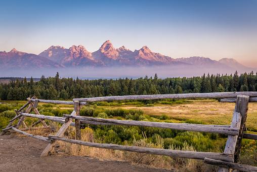 View of Grand Teton Mountains