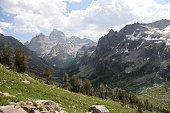 istock Grand Teton National Park as seen from Paintbrush Divide trail 1301407879