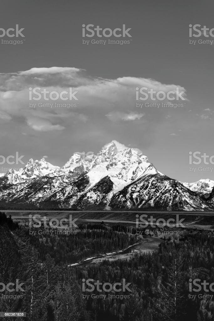 Grand Teton National Park in Jackson Hole, Wyoming stock photo