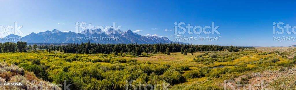 Grand Teton National Park. Snake River and the Teton Range - foto stock