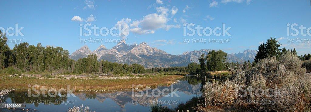 Grand Teton Panoramic 2 royalty-free stock photo