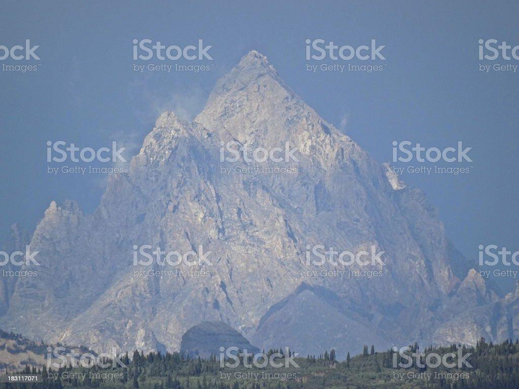 Grand Teton Pyramid stock photo