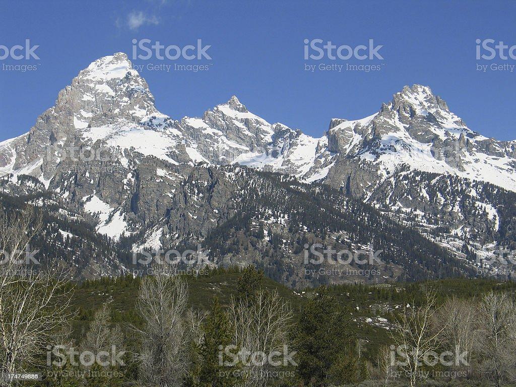 Grand Teton Range - Horizontal royalty-free stock photo