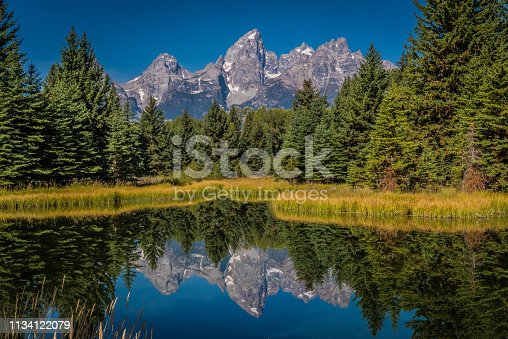 Autumn scenes in the Grand Teton National Park