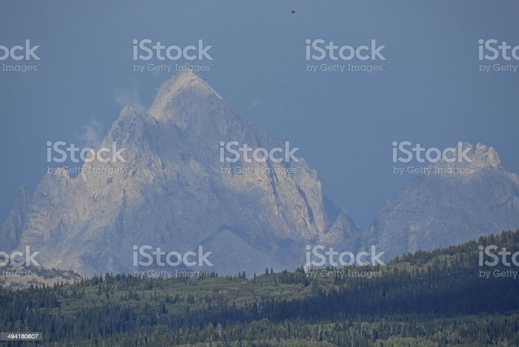 Grand Teton Sky Raptor stock photo