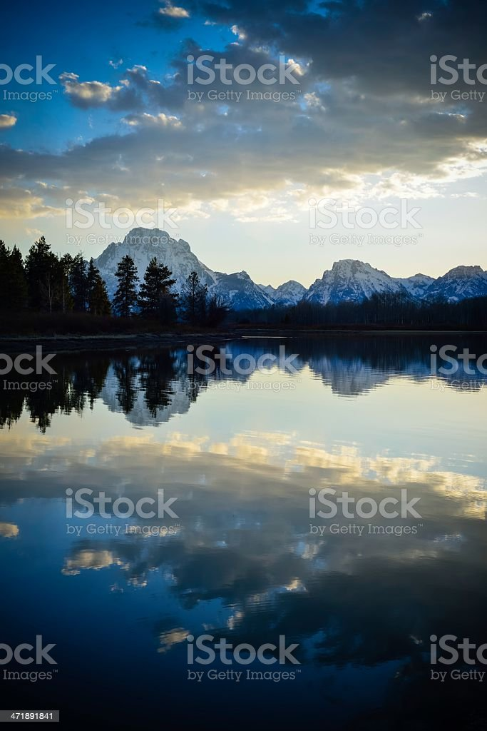 Grand Teton Sunset royalty-free stock photo