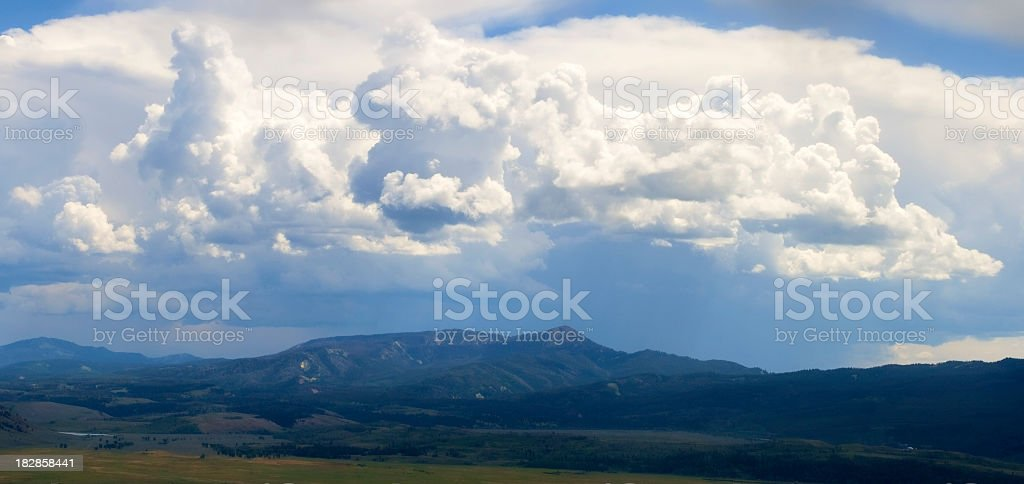 Grand Teton-Dramatic sky royalty-free stock photo