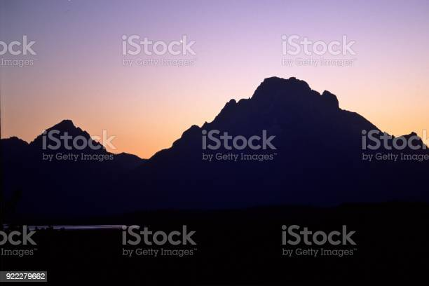 Grand Tetons Mount Moran sunset