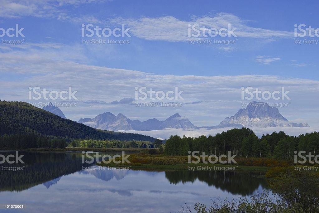 Grand Teton's Reflection stock photo