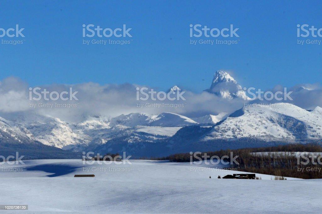 Grand Tetons Splendor, The Grant Tetons National Park, Wyoming stock photo