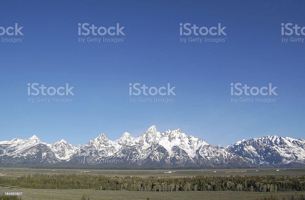 Grand Tetons with Abundant Copy Space royalty-free stock photo