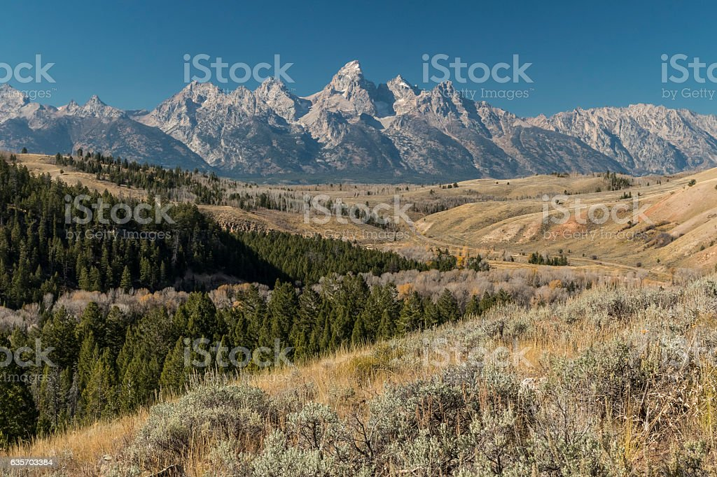 Grand Tetons, Wyoming royalty-free stock photo