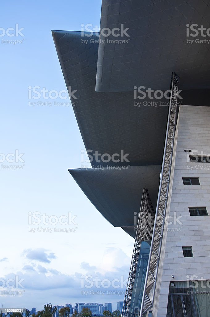 grand theater buildings in wuxi city, China royalty-free stock photo