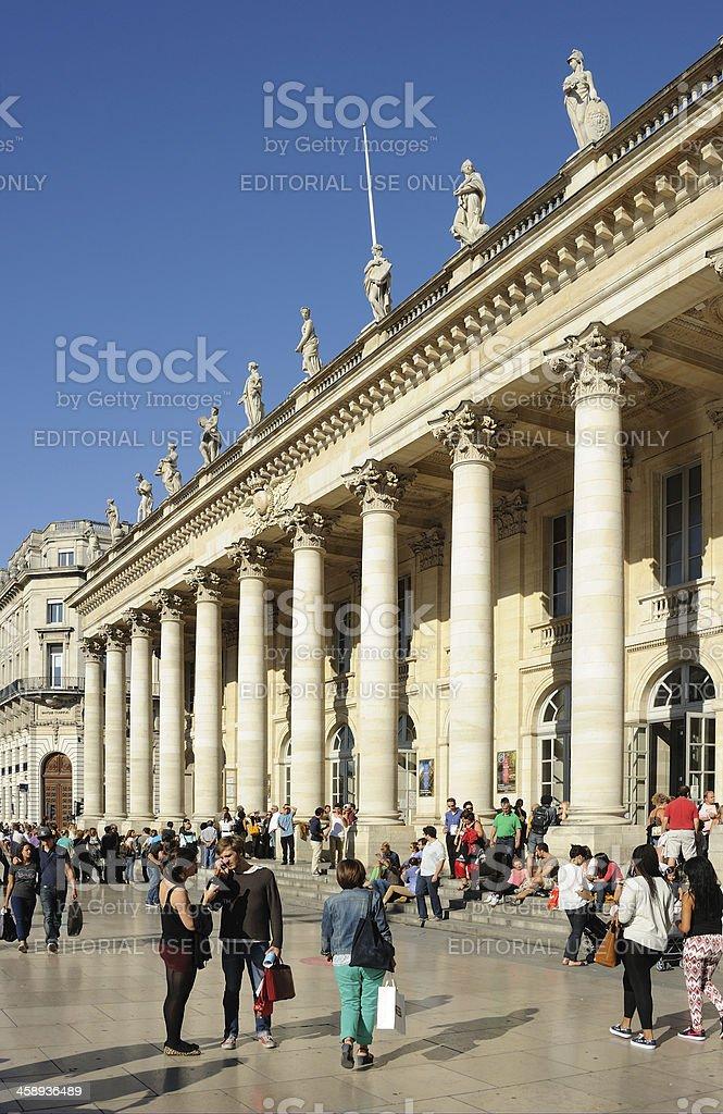 Grand Theatre, Bordeaux royalty-free stock photo
