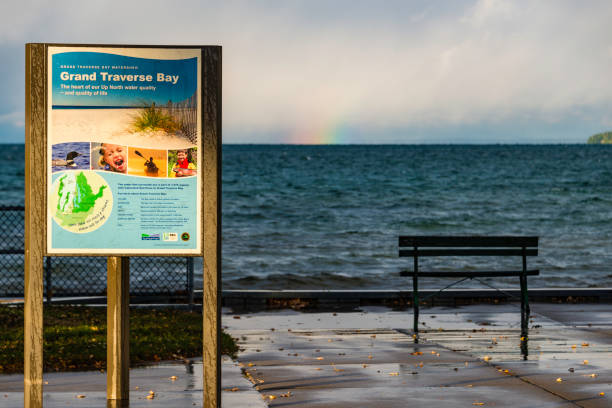 Grand Traverse Bay, Traverse City, Michigan stock photo