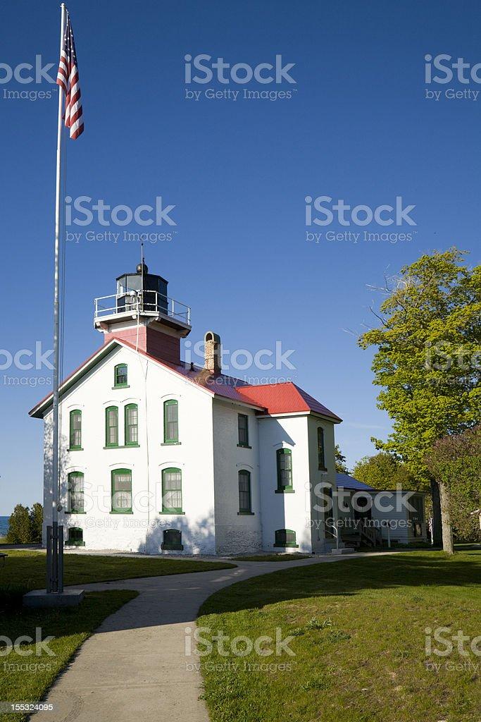 Grand Traverse Lighthouse royalty-free stock photo