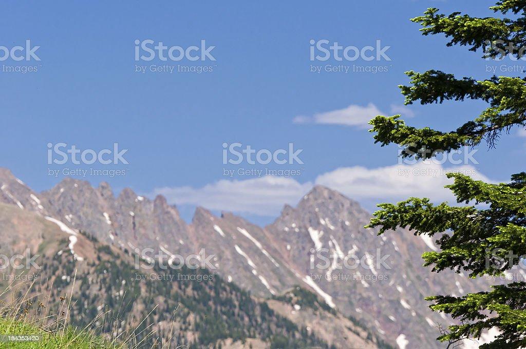 Grand Traverse Peak Gore Range Vail Colorado royalty-free stock photo