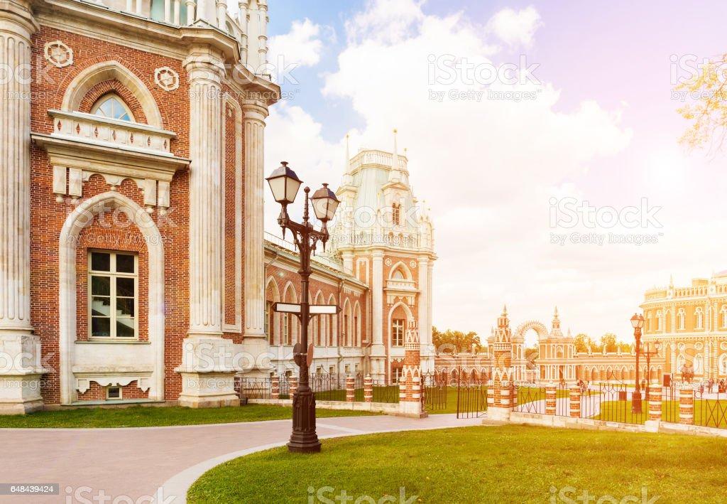 Grand Tsaritsyno palace stock photo