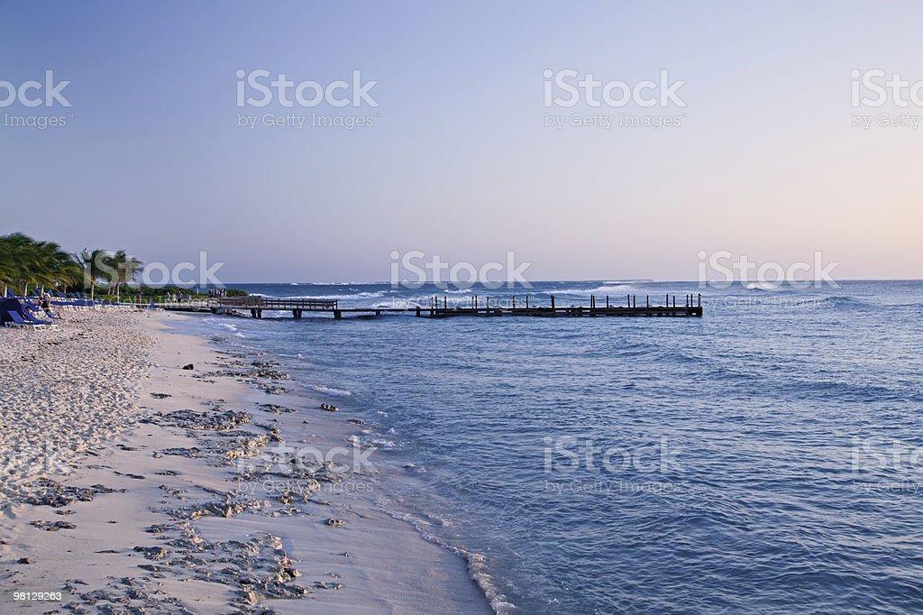 Grand Turk Beach at Sunset royalty-free stock photo